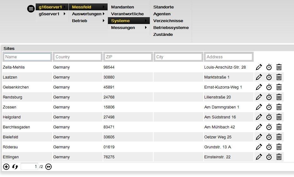 Verwaltungskonsole INFRA-XS Portal