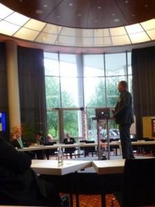 Axel von Dielingen beim Vortrag