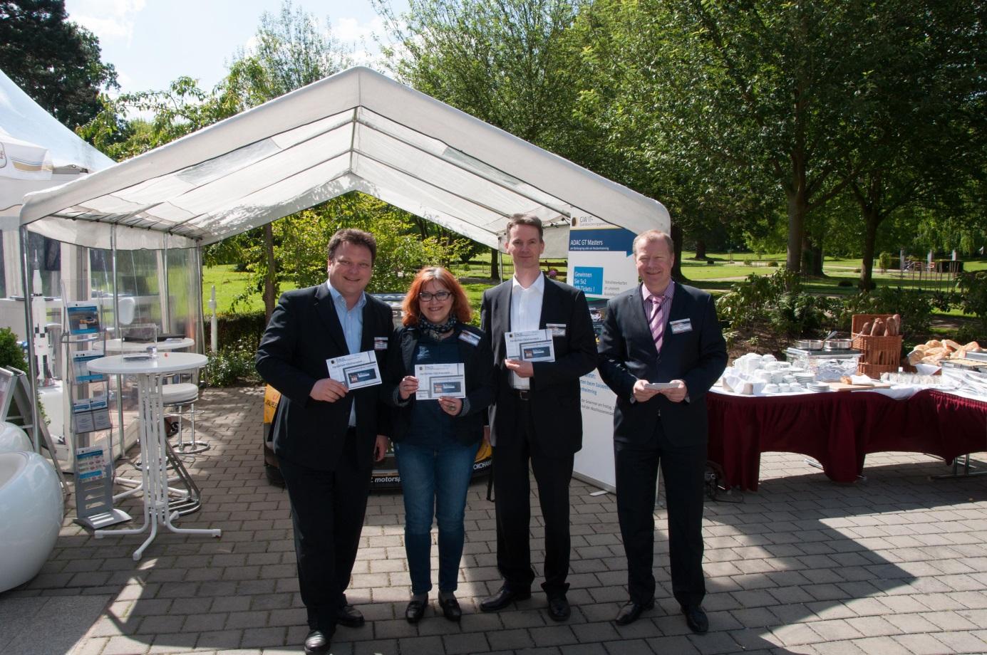Die Gewinner der VIP-Karten für das ADAC GT Masters-Rennen am Hockenheimring mit Axel von Dielingen