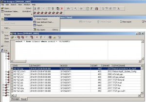 XS-Designer with SQL Query